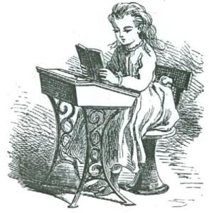 Small Girl at Desk