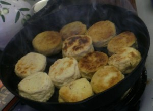 Baking Powder Biscuits Baked on a Hotplate